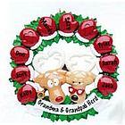 Personalized Grandparent's Reindeer Herd Christmas Tree Ornament