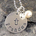 Sweet Angel Personalized Hand Stamped Necklace