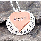 Mom Cubed Personalized Hand Stamped Necklace