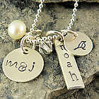 Full Nest Personalized Hand Stamped Necklace