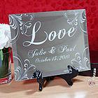 "Personalized ""Love"" Keepsake Mirror Plaque"