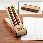 Rosewood Pen Set in Combo Wood Display Case