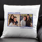 Two Photos Picture Perfect Personalized Keepsake Pillow