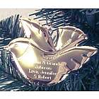 Personalized Goldtone Peace Dove Ornament