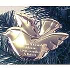 Personalized Goldtone Peace Dove Ornament