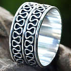 Men's Ripple Tides Sterling Silver Ring