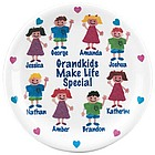 Personalized Grandparents Plate with Sponge Kids