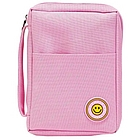 Pink Bible Cover with Smiley Face