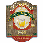 Personalized Vintage Irish Beer Tavern Sign