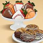 Dipped Cookies and Half Dozen Sports Strawberries