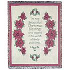 Personalized Christmas Pointsettia Throw