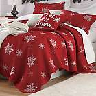 Snowflake Full/Queen Size Embroidered Cotton Quilt