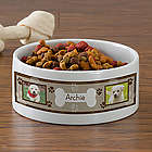 Large Throw Me a Bone Personalized Pet Bowl