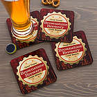Premium Brew Personalized Coasters