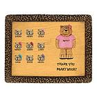 Personalized Female Co-Worker 10 Bears on Plaque