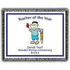 Teacher of the Year Tapestry Throw