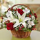 Fields of Europe Christmas Bouquet in Basket