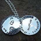 Love Forever Domed Locket Hand Stamped Necklace