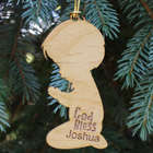 Praying Boy Personalized Wood Ornament