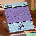 Dot to Dot Initial Personalized Desk Calendar