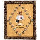 Personalized Salesman Bears on Plaque