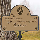 Pawprints in Heaven Pet Memorial Magnet
