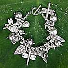 Gifts of Nature Sterling Silver Charm Bracelet