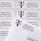 Name & Monogram Personalized Address Labels