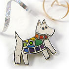 Rainbow Terrier Pin