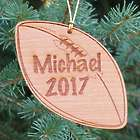 Personalized Football Wooden Christmas Ornament