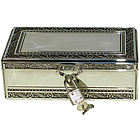 Engraved Silver Plated Key to My Heart Keepsake Box