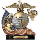 Honor, Courage, Commitment Personalized Marine Sculpture
