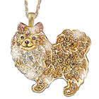 Best in Show Dog Lover's Pomeranian Crystal Pendant