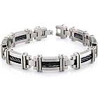 Titanium & Black Titanium Cable Link Bracelet