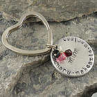 Personalized Hand Stamped Name Keychain
