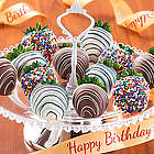 One Dozen Birthday Dipped Strawberries