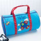 Kid's Personalized Airplane Duffel Bag