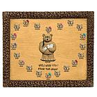 Personalized Postmaster / Mailman Bears on Plaque