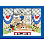 Personalized Baseball Coach Cartoon