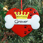 Personalized Best Dog Ornament