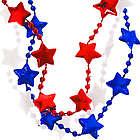 Patriotic Star Bead Necklaces