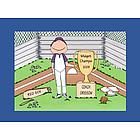 Personalized Trophy Baseball Coach Cartoon