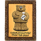 Personalized Pharmacist Bear on Plaque