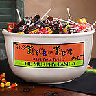 Trick or Treat Have Some Sweets Personalized Candy Bowl