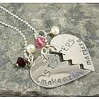 Break Apart Hearts Personalized Necklace