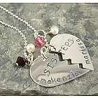 Break Apart Hearts Personalized Necklace
