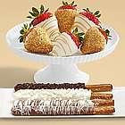 Four Caramel Pretzels and Half Dozen Champagne Strawberries