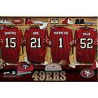 San Francisco 49ers Personalized 16x24 Locker Room Canvas