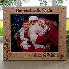 Santa and Me 8x10 Personalized Christmas Picture Frame