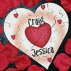 All of My Heart Personalized Heart Shaped Wooden Jig Saw Puzzle